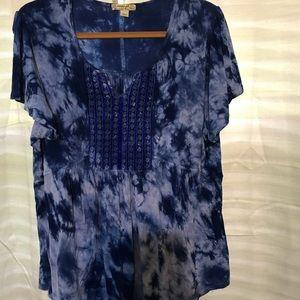 Energe blue tyed shirt